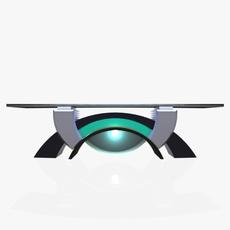 Virtual Tv Studio News Desk 2 3D Model