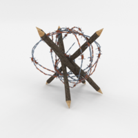 Lowpoly Barb Wire Obstacle 5 3D Model