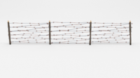 Lowpoly Barb Wire Obstacle 7 3D Model