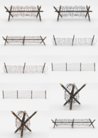 Barb Wire Obstacle Collection 3D Model
