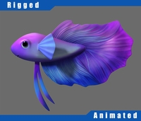 Cartoon Fish05 Rigged 3D Model