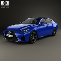 Lexus GS F 2015 3D Model
