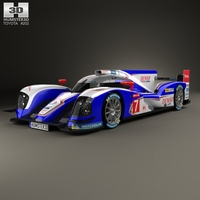 Toyota TS030 Hybrid 2013 3D Model