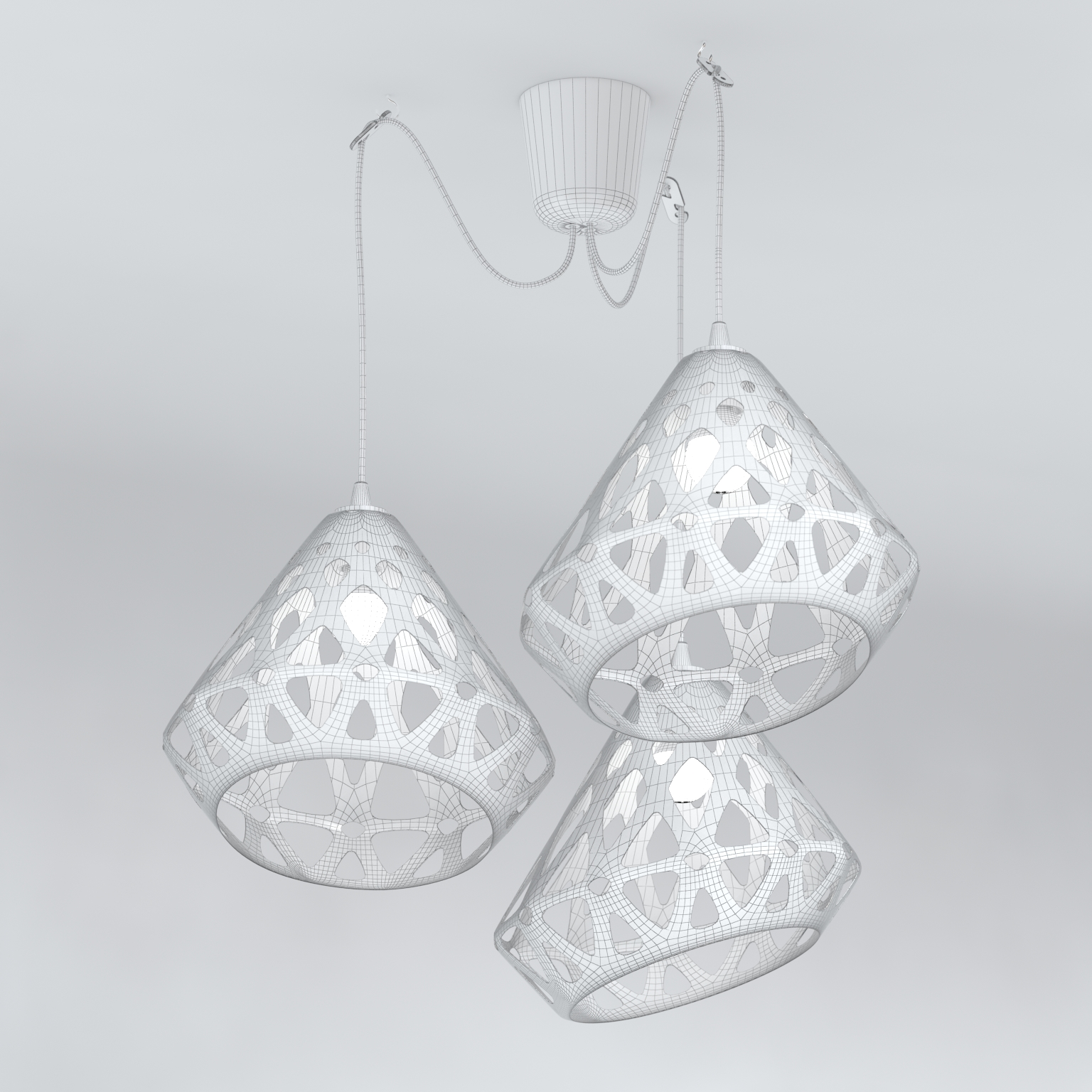 Chandelier ZAHA LIGHT 3D Model