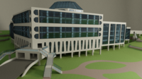 Science center building 3D Model
