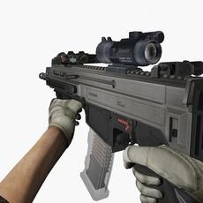 Z1 3000 Assault Rifle 3D Model