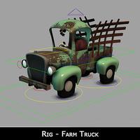 Free Farm Truck Rig for Maya 1.0.0