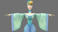 cartoon woman 2 3D Model