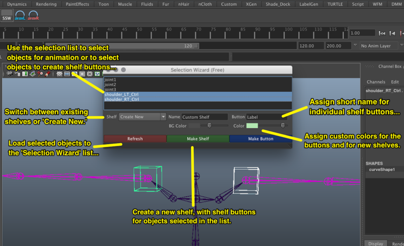 Selection Wizard (Limited) for Maya - Free Interface