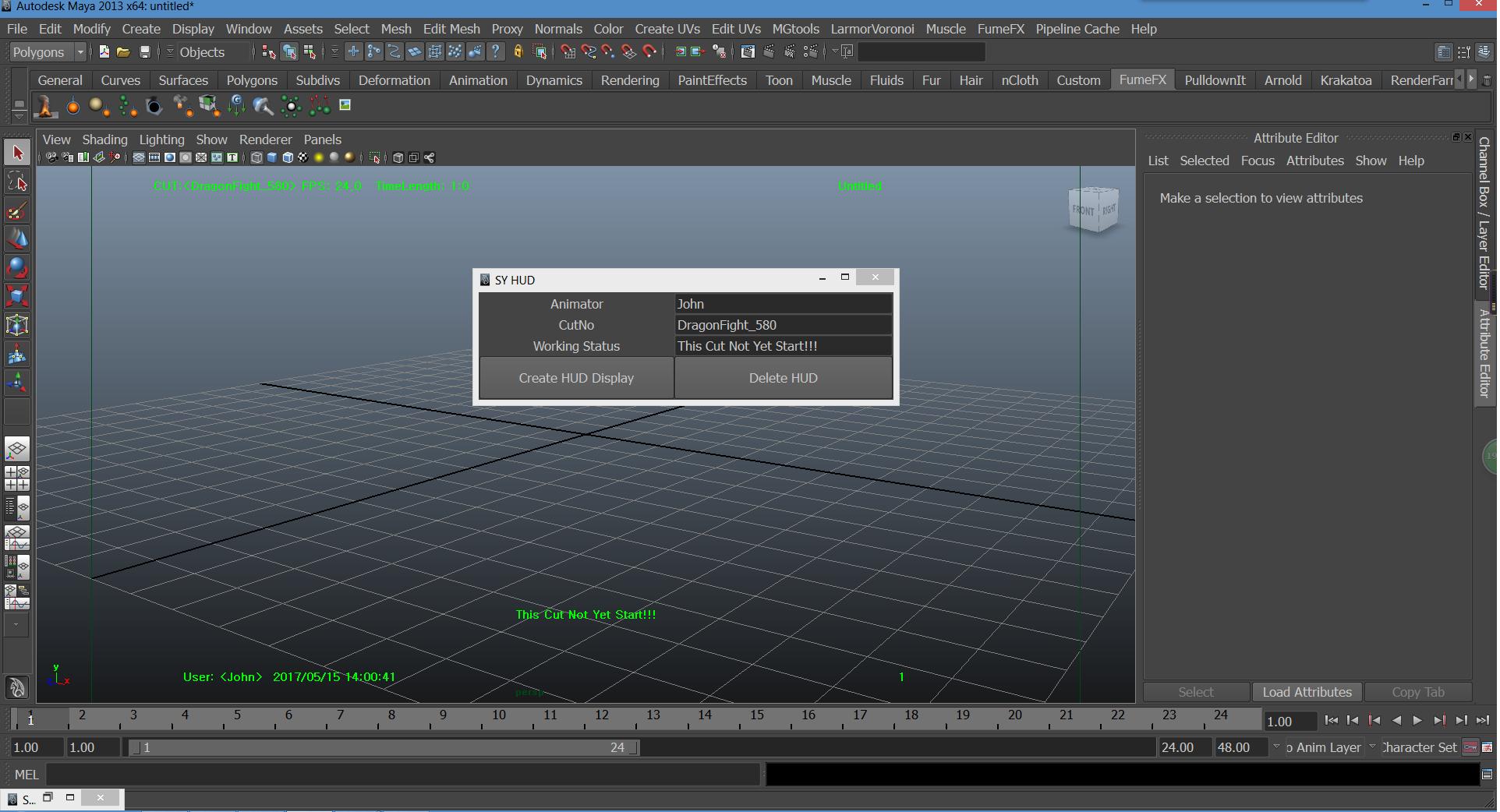 Maya HUD display customized python script for Maya - Free Interface