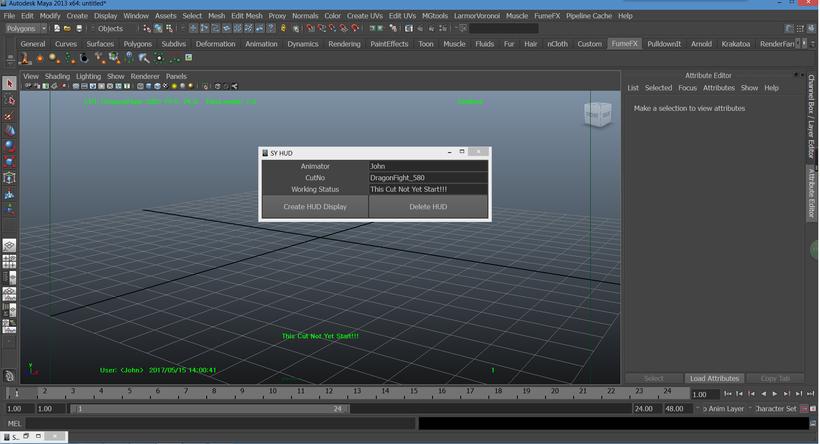 Maya HUD display customized python script for Maya - Free