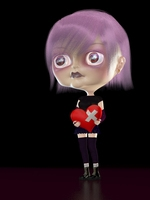 Emotional Girl 3D Model