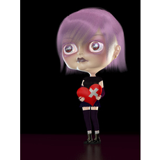 Emotional Girl 3D Model