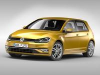 Volkswagen Golf (2017) 3D Model
