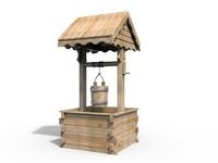Wooden Well 3D Model