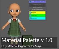 Free Maya Material Palette for Maya 1.0.0 (maya script)