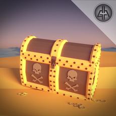 Pirate Chest Treasure 3D Model