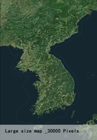 Korean Peninsula satellite map 3D Model