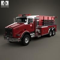 Kenworth T800 Fire Truck 3-axle 2005 3D Model