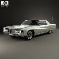 Buick Electra 225 Custom Sport Coupe 1969 3D Model