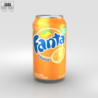 Fanta Orange Can 12 FL 3D Model