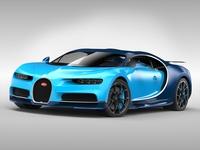 Bugatti Chiron (2017) 3D Model