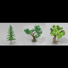 tree set 2 3D Model