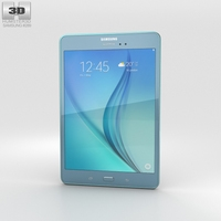 Samsung Galaxy Tab A 8.0 Smoky Blue 3D Model