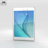 Samsung Galaxy Tab A 8.0 White 3D Model