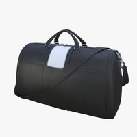 Black leather bag 3D Model
