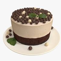 Mousse cake 3D Model
