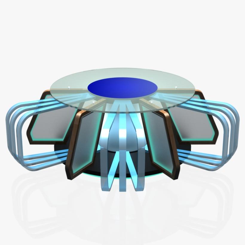 Virtual Tv Studio News Desk 7 3D Model