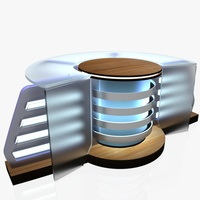 Virtual Tv Studio News Desk 8 3D Model