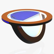 Virtual Tv Studio News Desk 10 3D Model