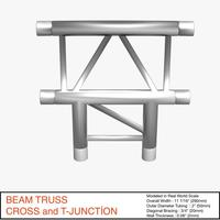 Free Beam Truss Cross and T Junction 134 3D Model