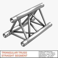 Free Triangular Truss Straight Segment 071 3D Model