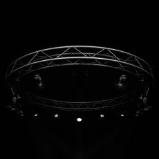 Stage Lights and Circle Square Truss 400cm 3D Model