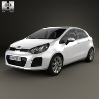 Kia Rio UB 5-door 2015 3D Model