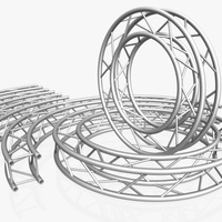 Circle Square Truss Modular Collection ( 10 Modular Pieces ) 3D Model
