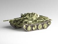 T-62A Medium Tank 3D Model