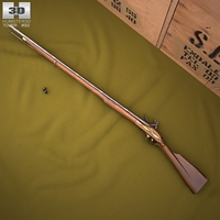Brown Bess (Land Pattern Musket) 3D Model