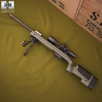 Remington M40A5 3D Model