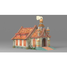 Cartoon house 1 3D Model