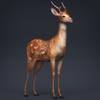 02 08 20 100 low poly realistic deer 06 4