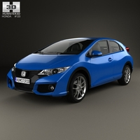 Honda Civic hatchback 2015 3D Model