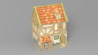 Cartoon house 2 3D Model