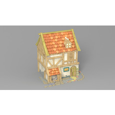 Cartoon house 2 3D Model