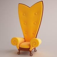 Armchair 02 3D Model