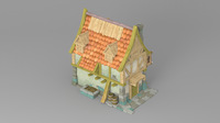 Cartoon house 3 3D Model