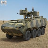Pandur II 8X8 APC 3D Model